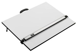 Portable Drafting Board with Parallel Straight Edge, 18x24