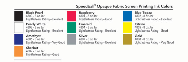 Speedball Opaque Fabric Ink