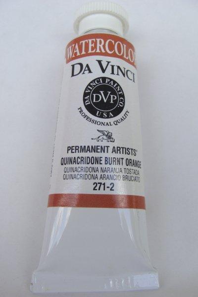 Aoe Artworld Da Vinci Watercolor Quinacridone Burnt Orange