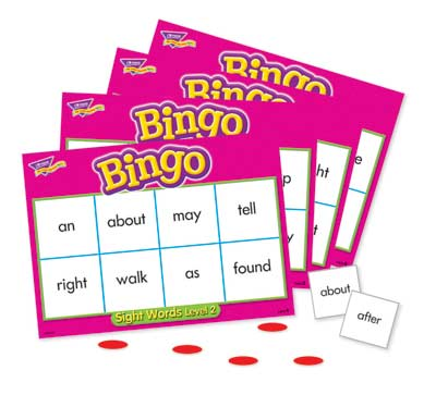 Sight Words - Level 2 Bingo Game