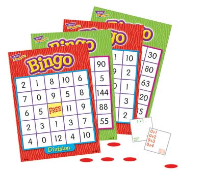 Multiplication & Division Bingo Game